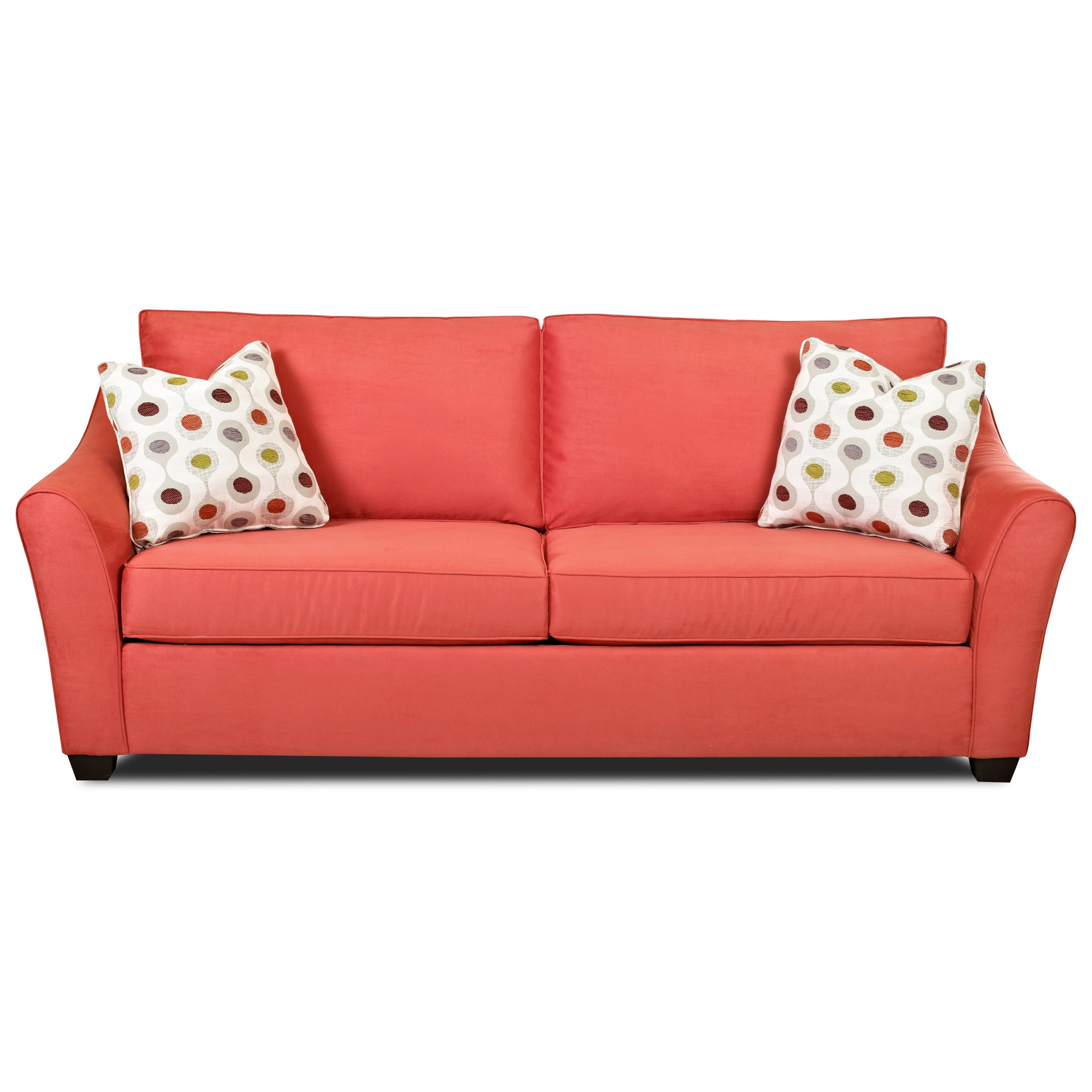 Klaussner Linville Contemporary Sofa With Flared Arms Wayside Furniture Sofas