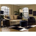 Klaussner Linville Contemporary Queen Dreamquest Sleeper Sofa with Flared Arms