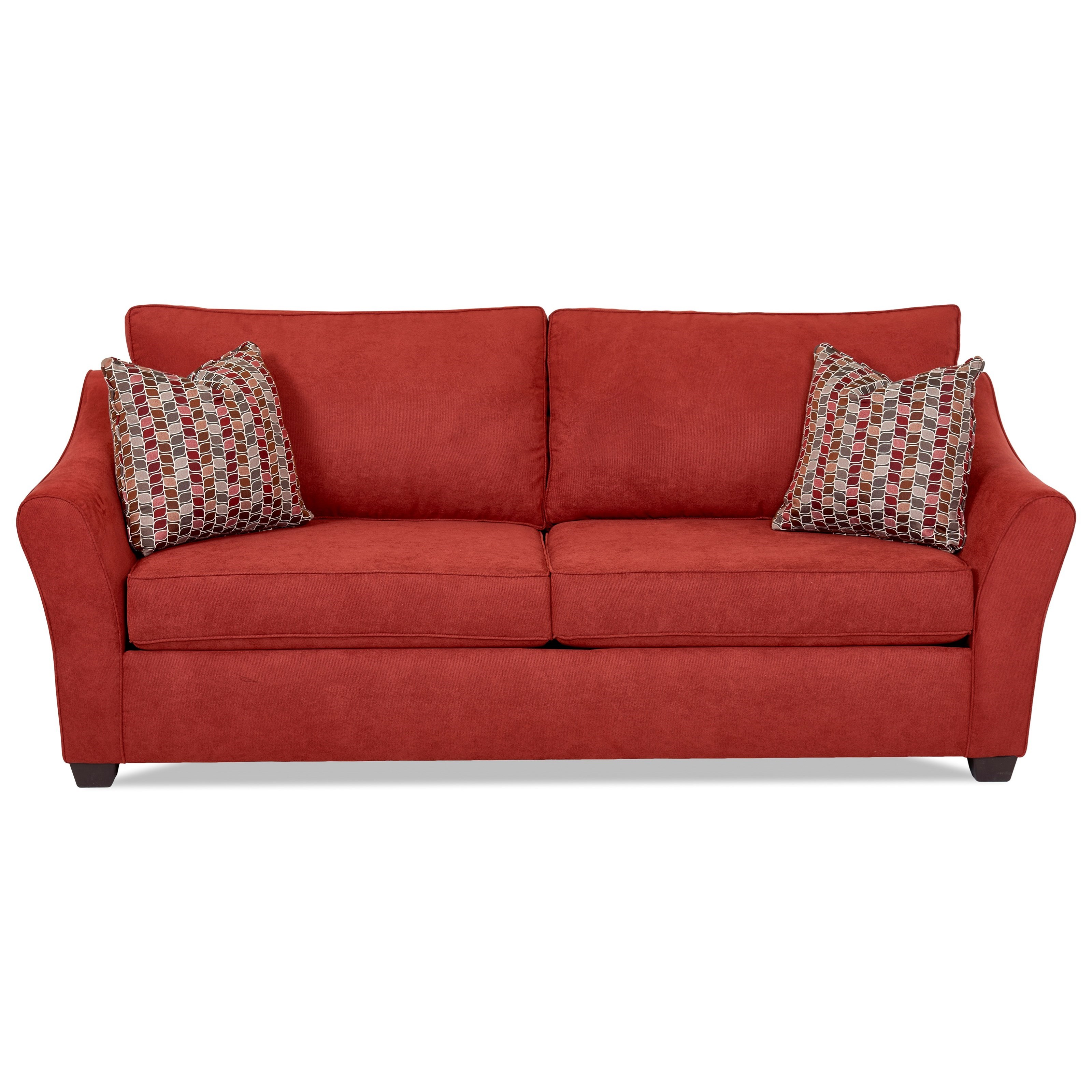 Klaussner Linville Sofa - Item Number: K80400 S-WILLOW MERLOT