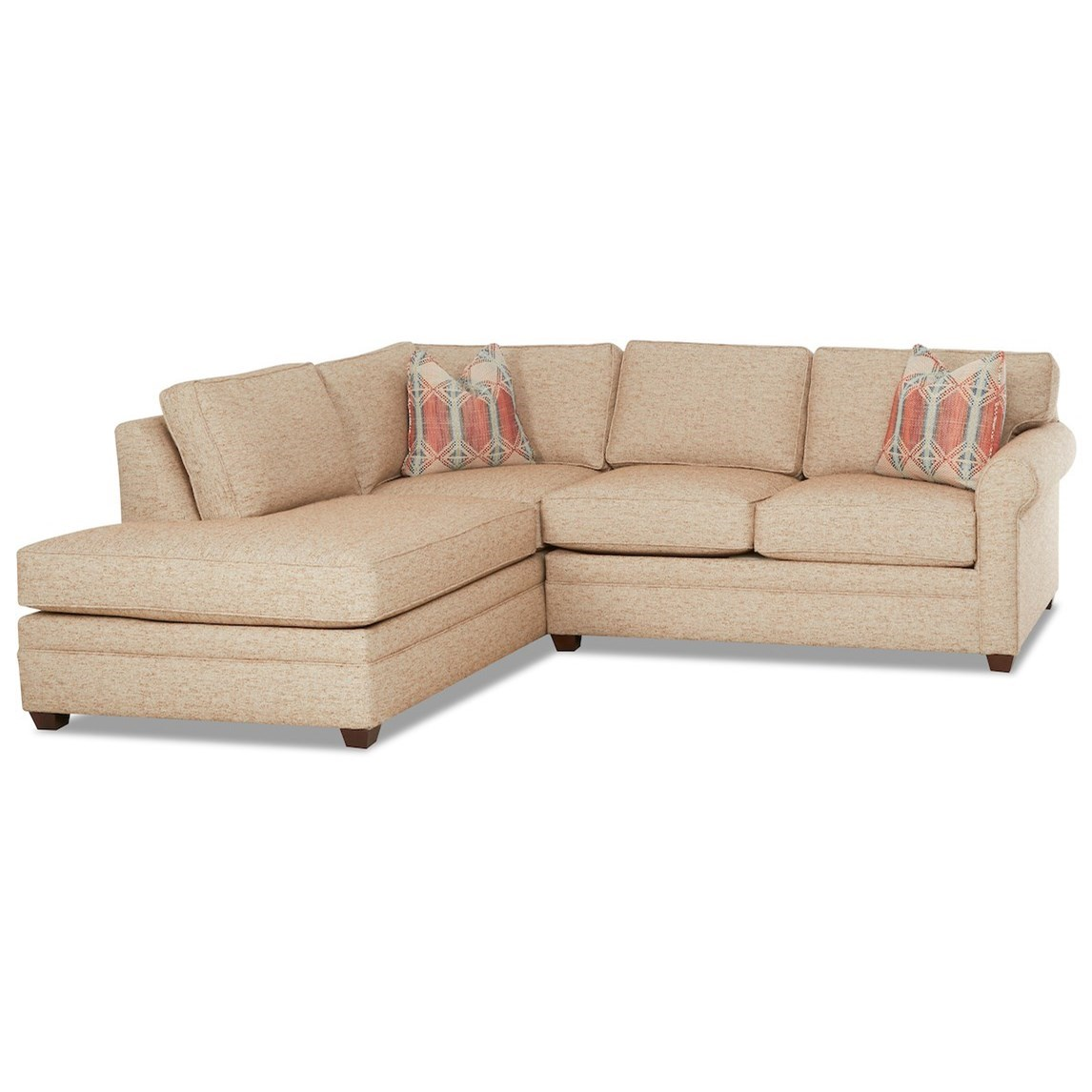 Living Your Way 2-Piece Sectional Sofa w/ LAF Sofa Chaise by Klaussner at Johnny Janosik