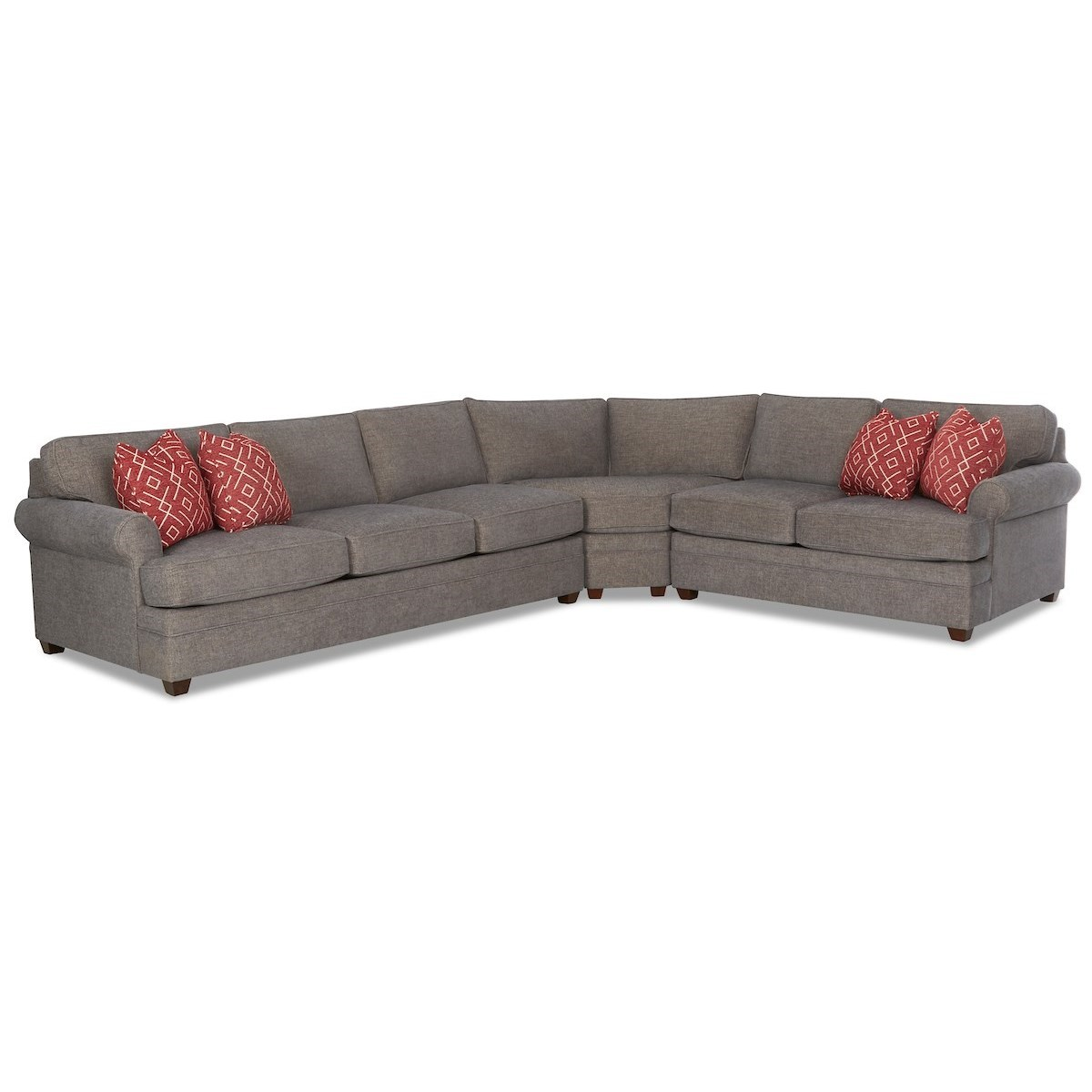 Living Your Way 3-Piece Sectional Sofa by Klaussner at Johnny Janosik
