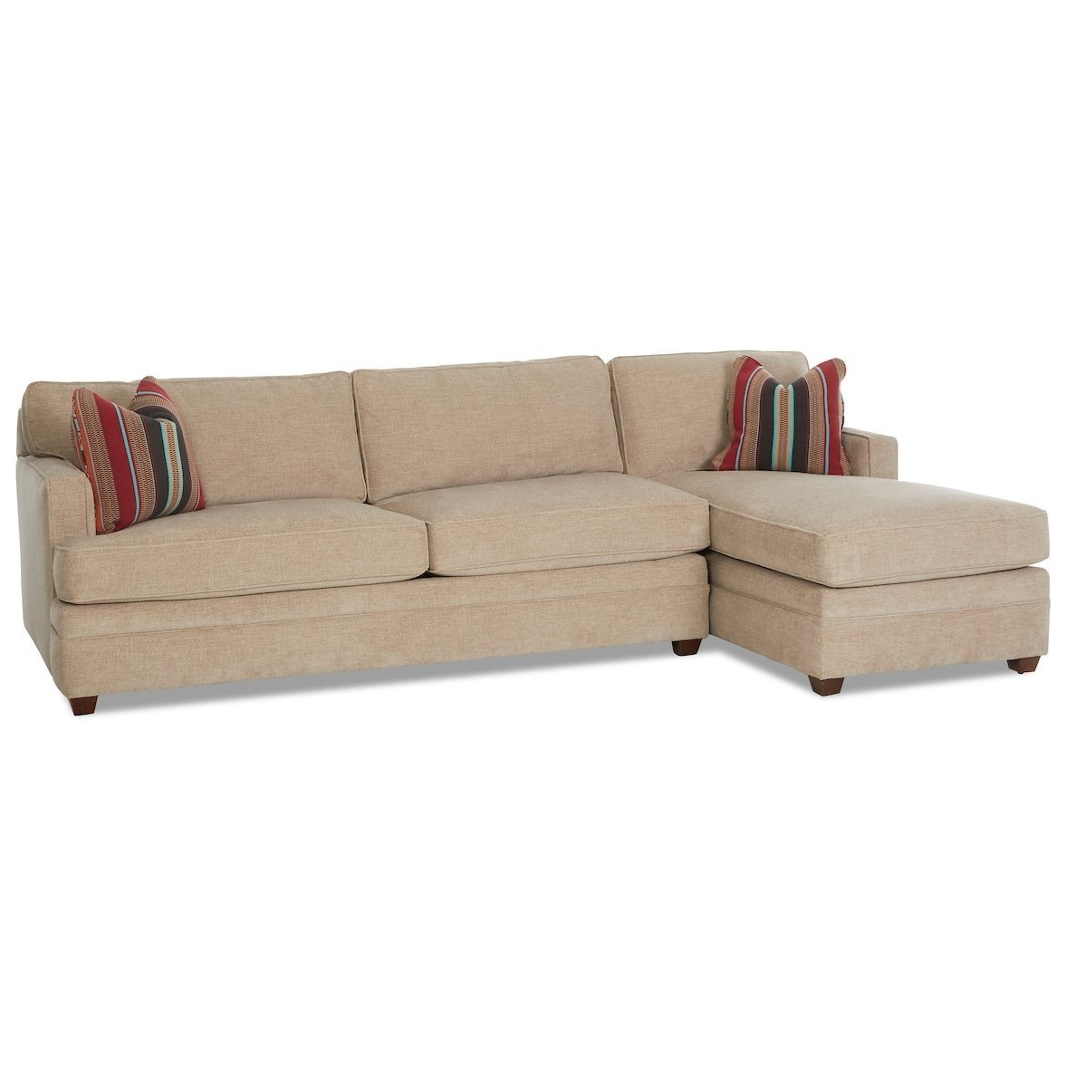 Living Your Way 2-Piece Sectional w/ LAF Innerspring Sleeper by Klaussner at Johnny Janosik