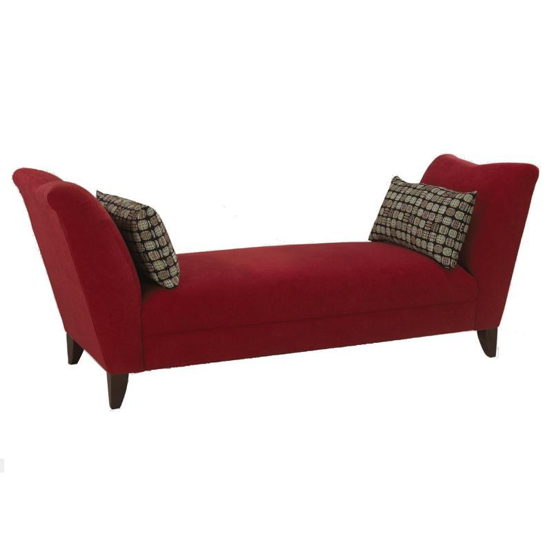 Klaussner Logan Backless Upholstered Sofa Daybed   AHFA   Chaise Dealer  Locator