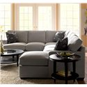Klaussner Loomis Sectional Sofa Group with Chaise Lounge