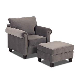 Klaussner Lopez Chair and Ottoman Set