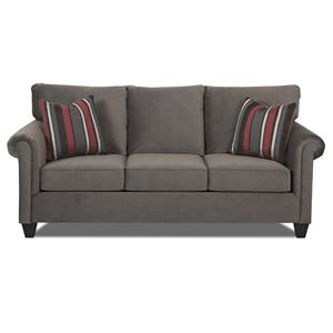 Klaussner Lopez Transitional Queen Inner Spring Sleeper Sofa