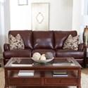 Klaussner Loxley Stationary Sofa - Item Number: LT89910AP S-Abilene Walnut