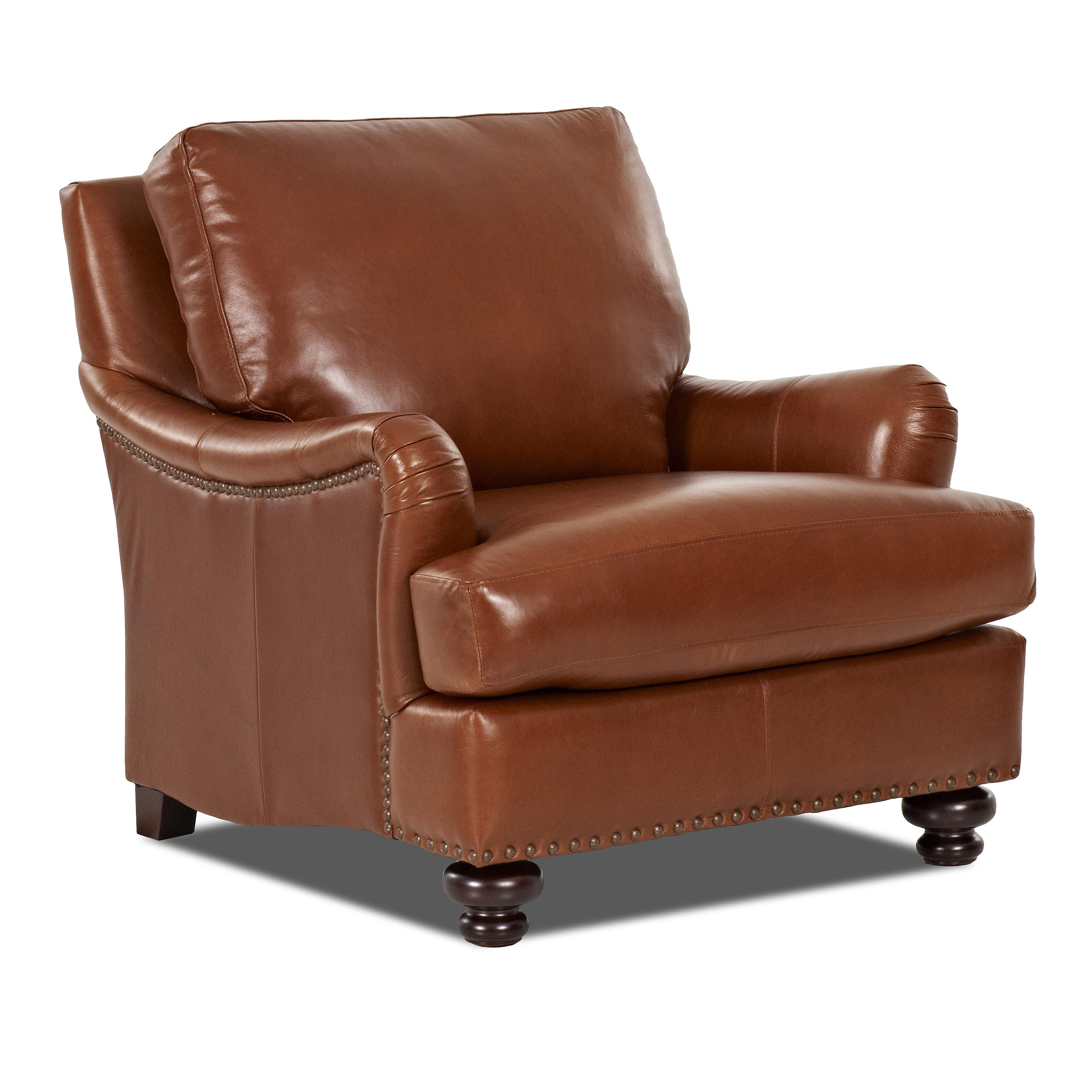 Klaussner Loxley Chair - Item Number: LT89910C-Savoy Chestnut