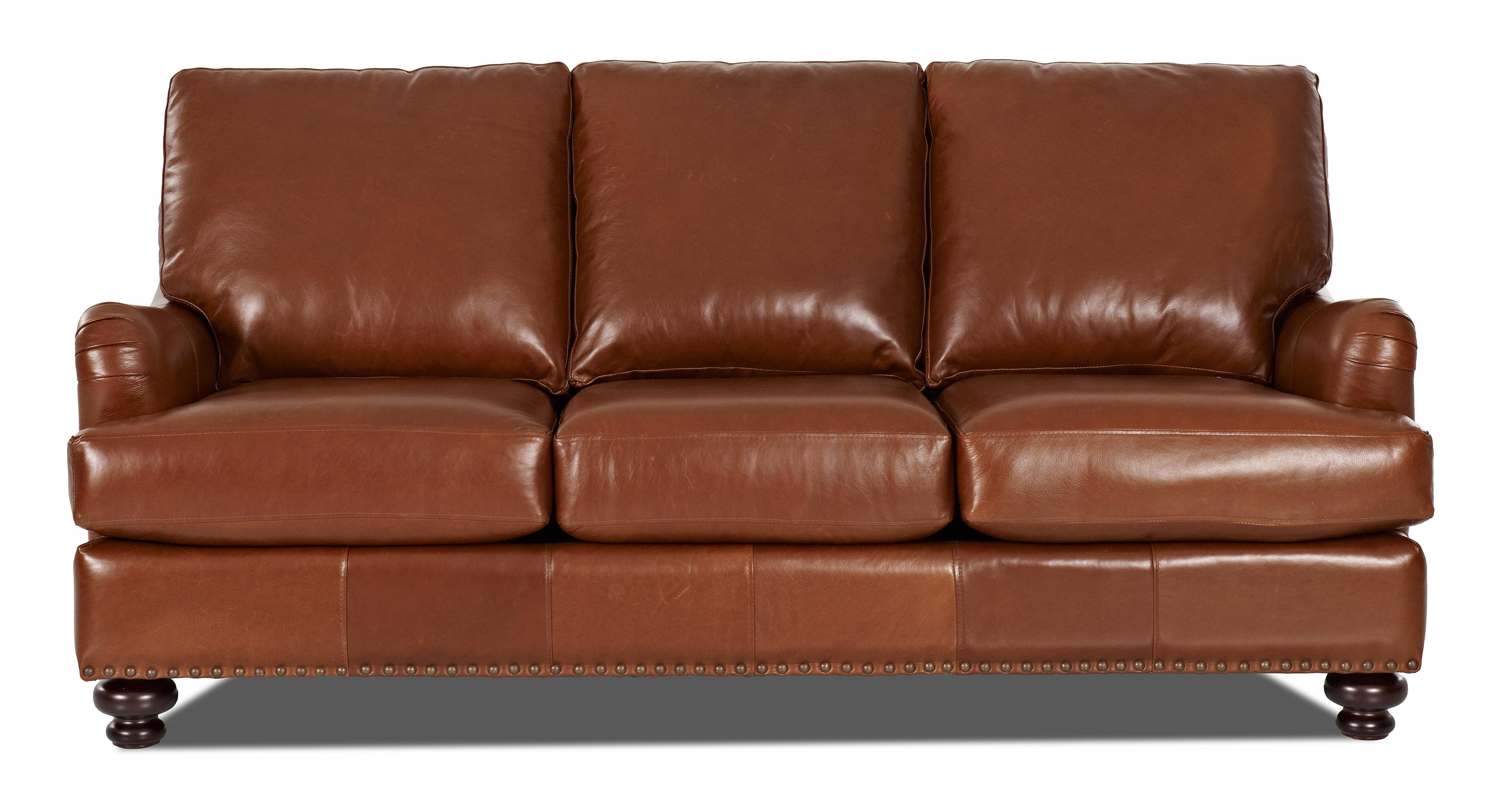 Klaussner Loxley Stationary Sofa - Item Number: LT89910S-Savoy Chestnut