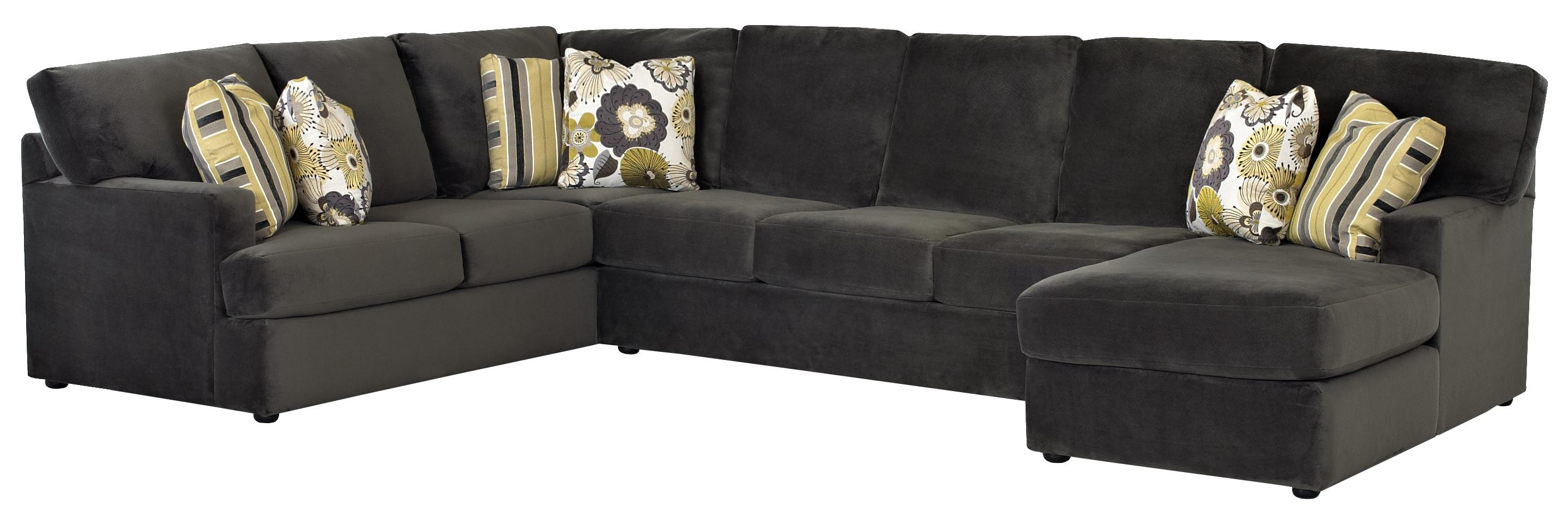 Klaussner Maclin K91500 Sectional Sofa With Right Side
