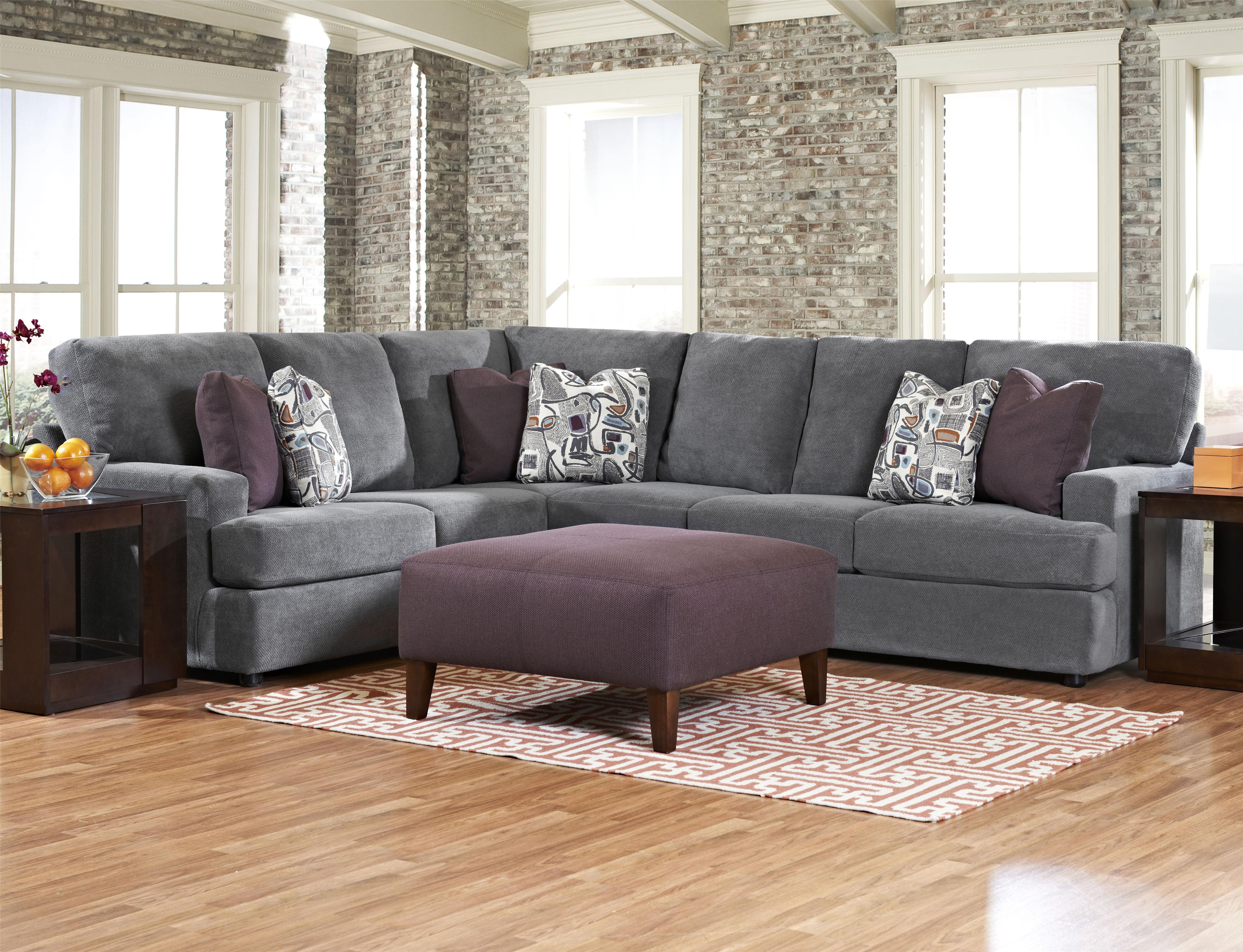 Klaussner Maclin K91500 Contemporary 2 Piece Sectional