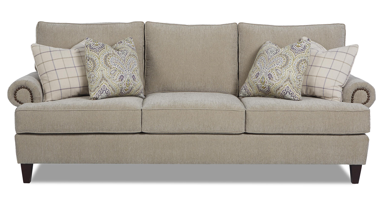 Klaussner Madison Traditional Stationary Sofa - Item Number: K41310 S-BistroSmoke