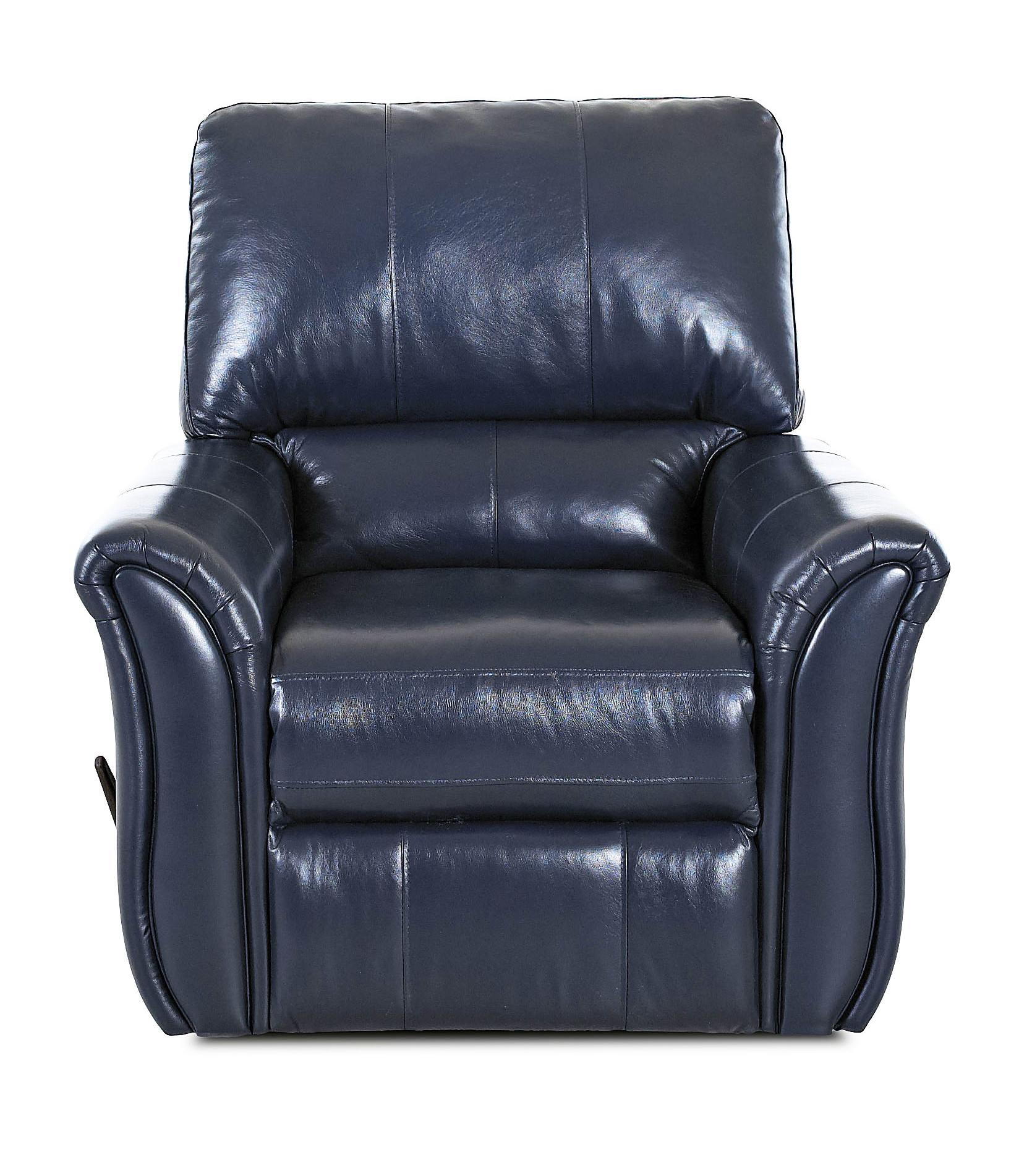 Klaussner Marcus 71903 Casual Swivel Rocking Reclining Chair - Item Number: LV71903H SRRC-OutsiderNavy