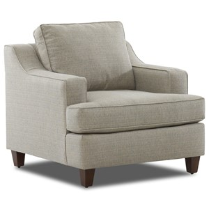 Transitional Chair with Sloped Track Arms