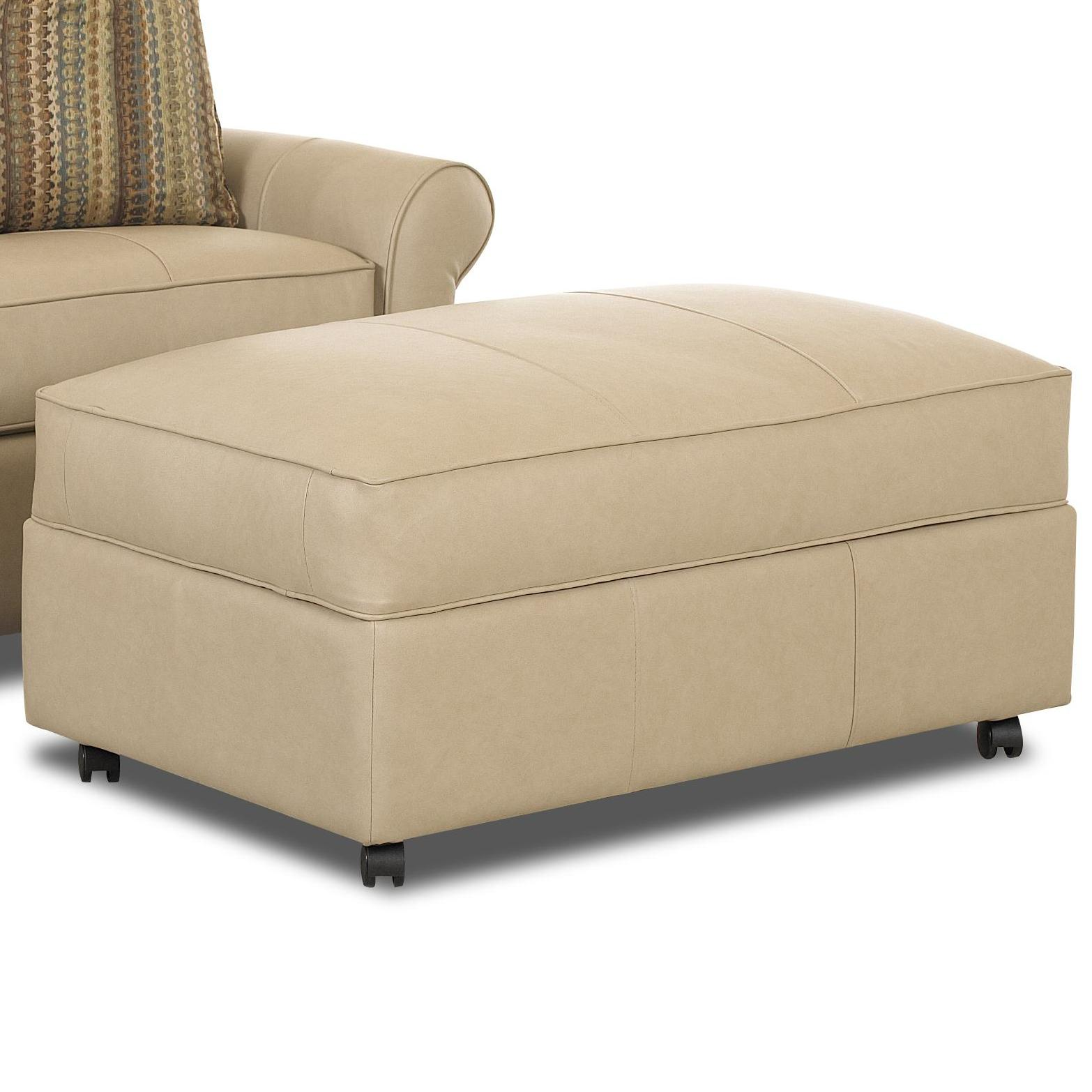 Klaussner Mayhew Large Rectangular Storage Ottoman With