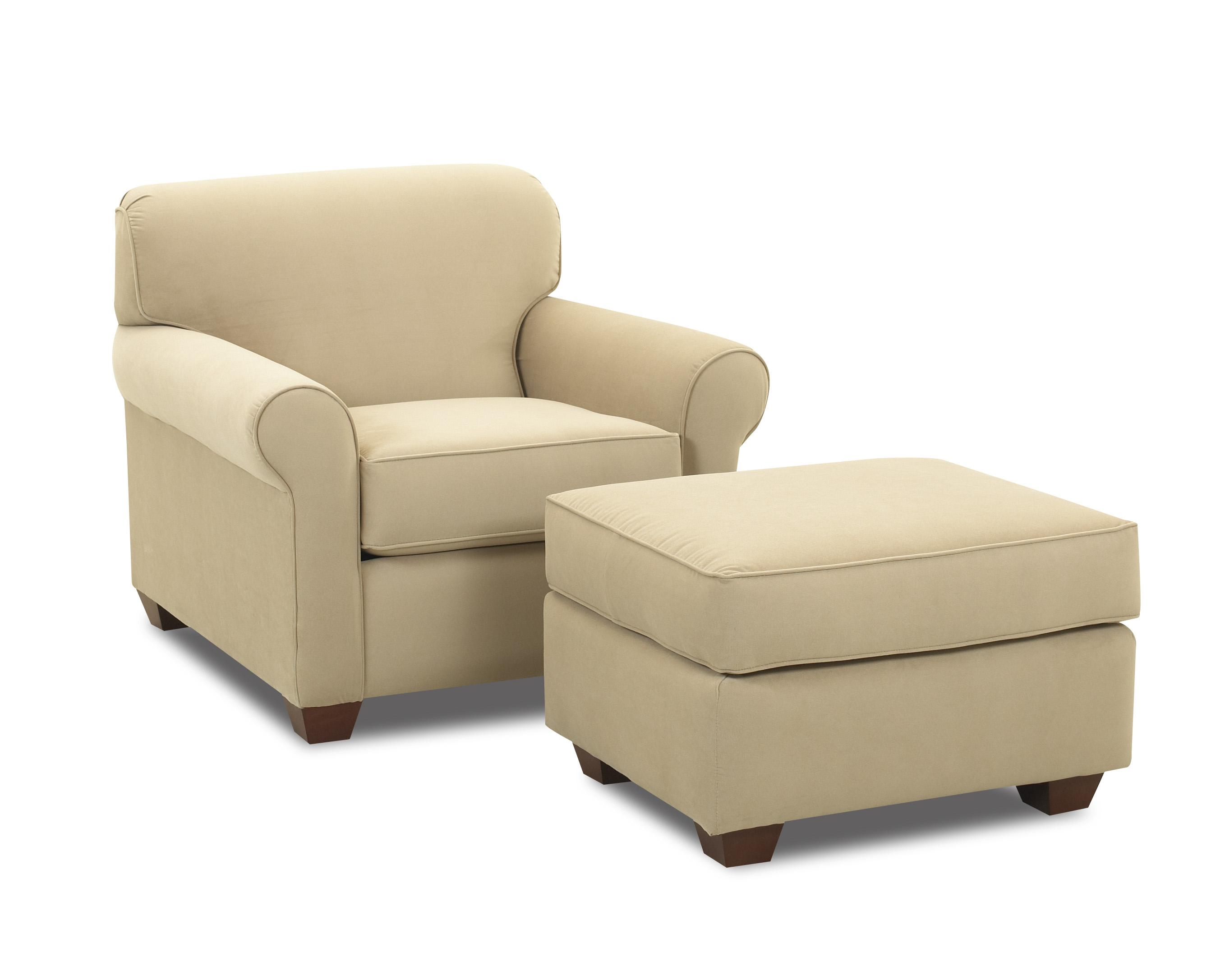 Klaussner Mayhew Chair and Ottoman - Item Number: 97900C+O