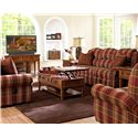Elliston Place McAlister Traditional Power Reclining Sofa with Rolled Arms and Winged Pub Back