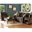 Klaussner McAlister Classic Reclining Rocking Chair - 32403HRRC - Shown with Reclining Sofa