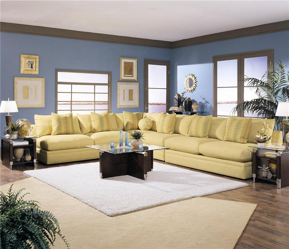 Klaussner Melrose Place Four Piece Sectional Sofa Efo