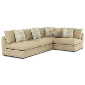 Klaussner Melrose Place Three Piece Sectional  sc 1 st  Wayside Furniture : klaussner sectional sofa - Sectionals, Sofas & Couches