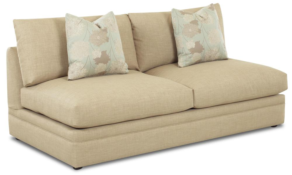 Klaussner Melrose Place Armless Love Seat - Item Number: D7600ALS