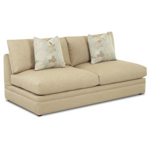 Klaussner Melrose Place Armless Love Seat