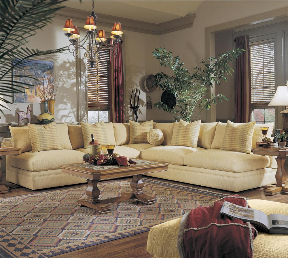 Klaussner Melrose Place Three Piece Sectional - Item Number: D7600CORN+2xALS