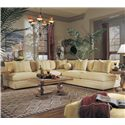 Klaussner Melrose Place Corner Chair - D7600CORN - Shown with Two Love Seats as a Sectional