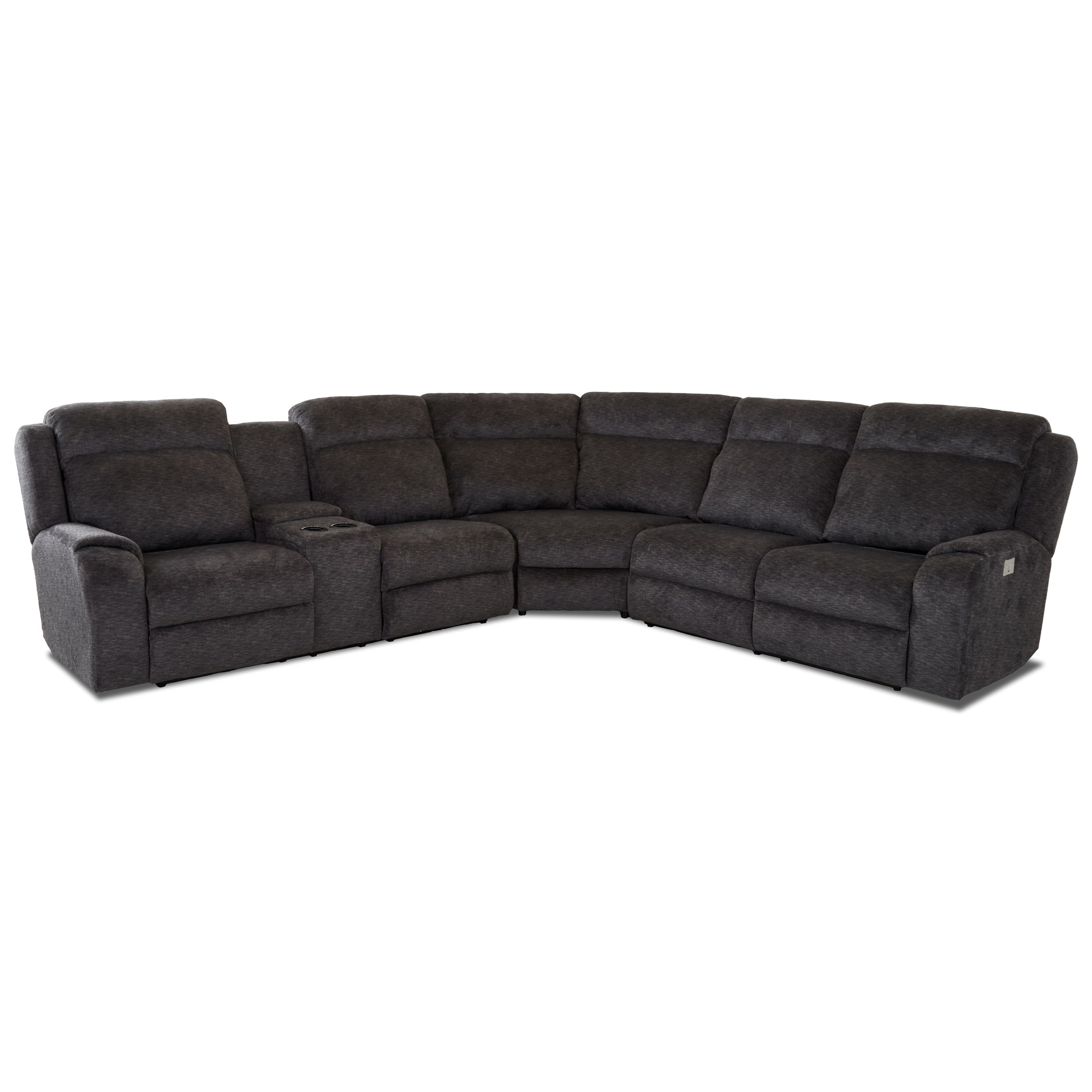 4 Seat Pwr Recl Sectional Sofa w/ Pwr Head