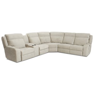 Klaussner Merlin 4 Seat Reclining Sectional Sofa