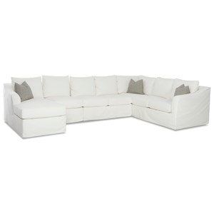 6-Seat Slipcover Sectional Sofa w/ LAF Chais