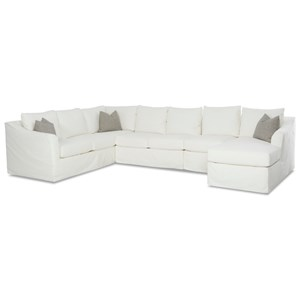 6-Seat Slipcover Sectional Sofa w/ RAF Chais