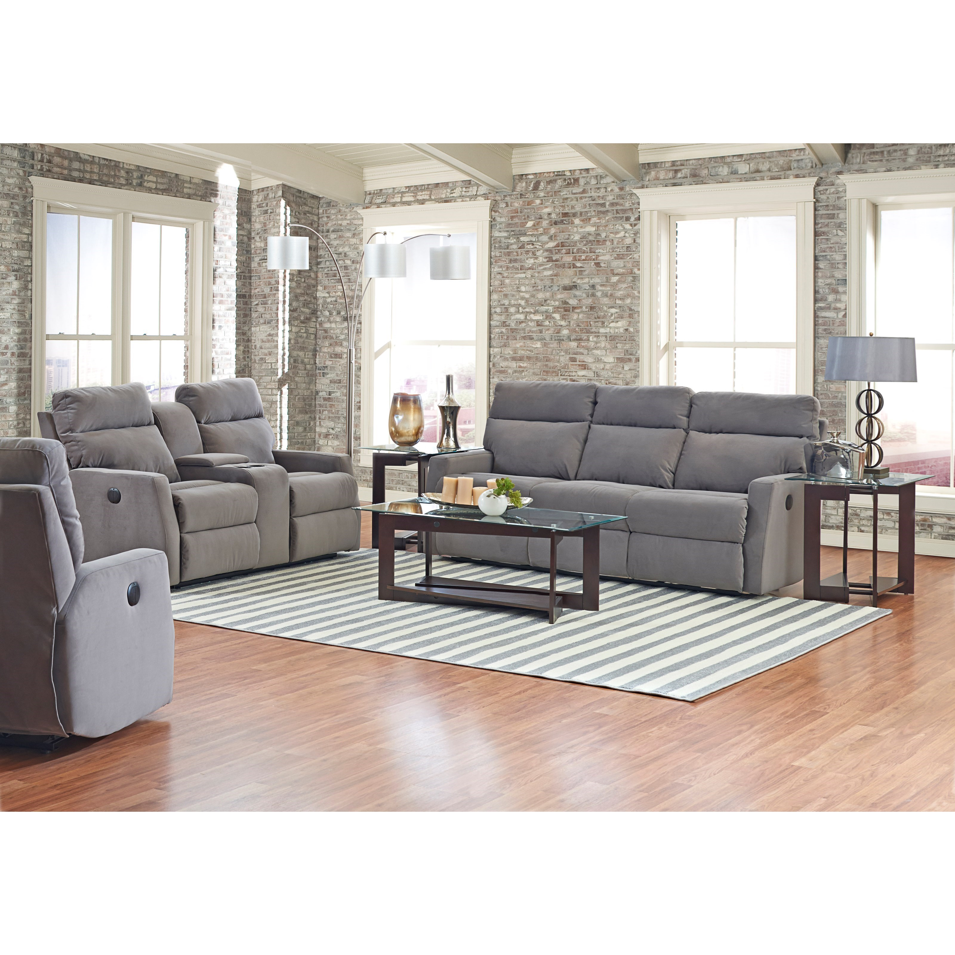 Klaussner Monticello Reclining Loveseat With Cupholder