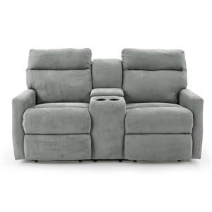 Klaussner Monticello Power Console Reclining Loveseat