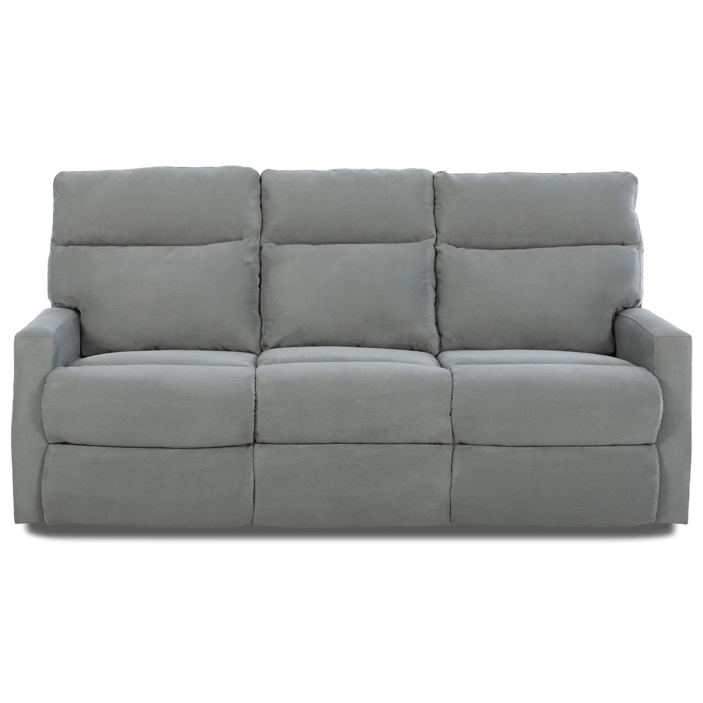 Klaussner Monticello Reclining Sofa - Item Number: 41503 RS-GEO SURF