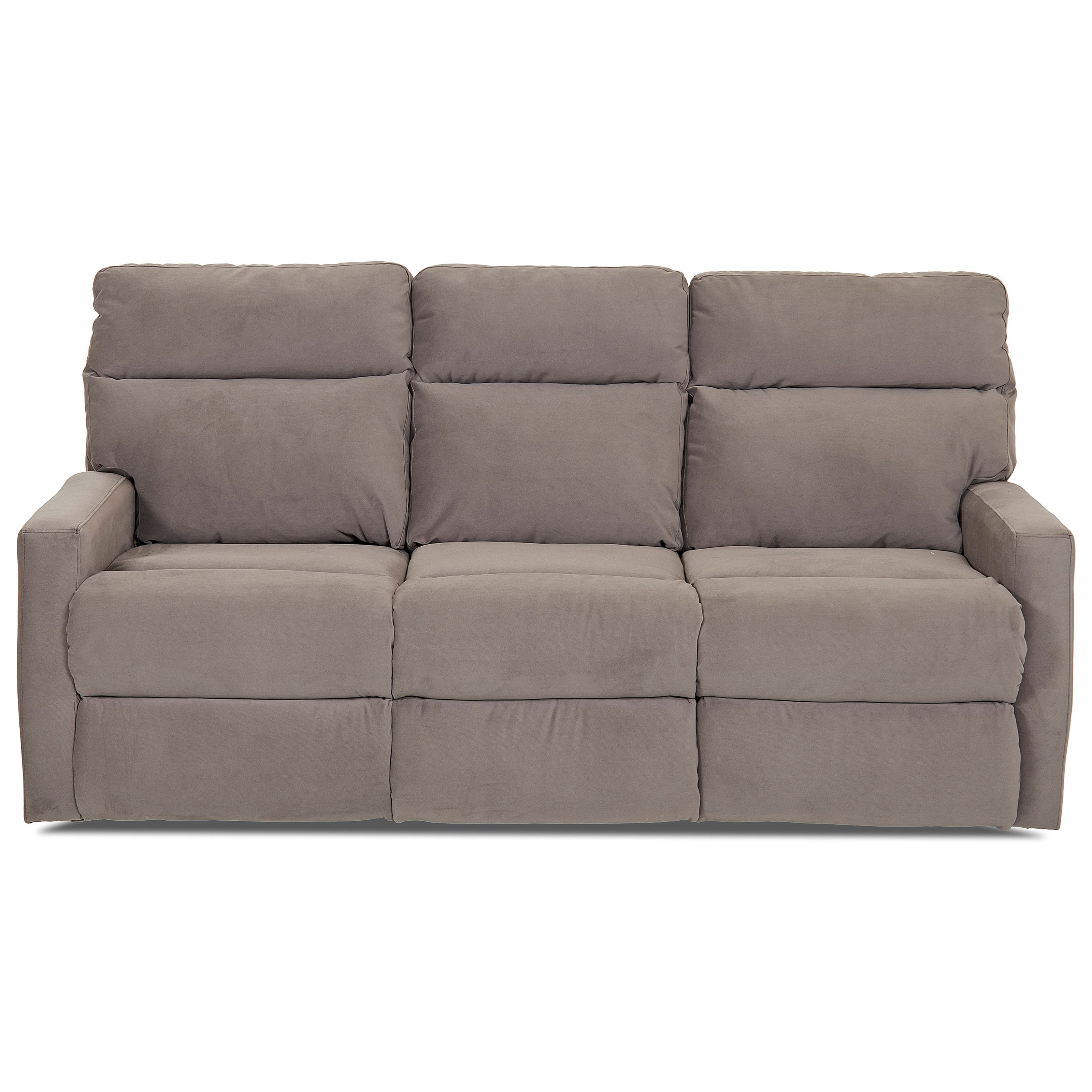 Klaussner Daphne Reclining Sofa With Soft Track Arms