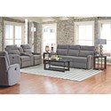 Klaussner Monticello Power Reclining Sofa with Soft Track Arms
