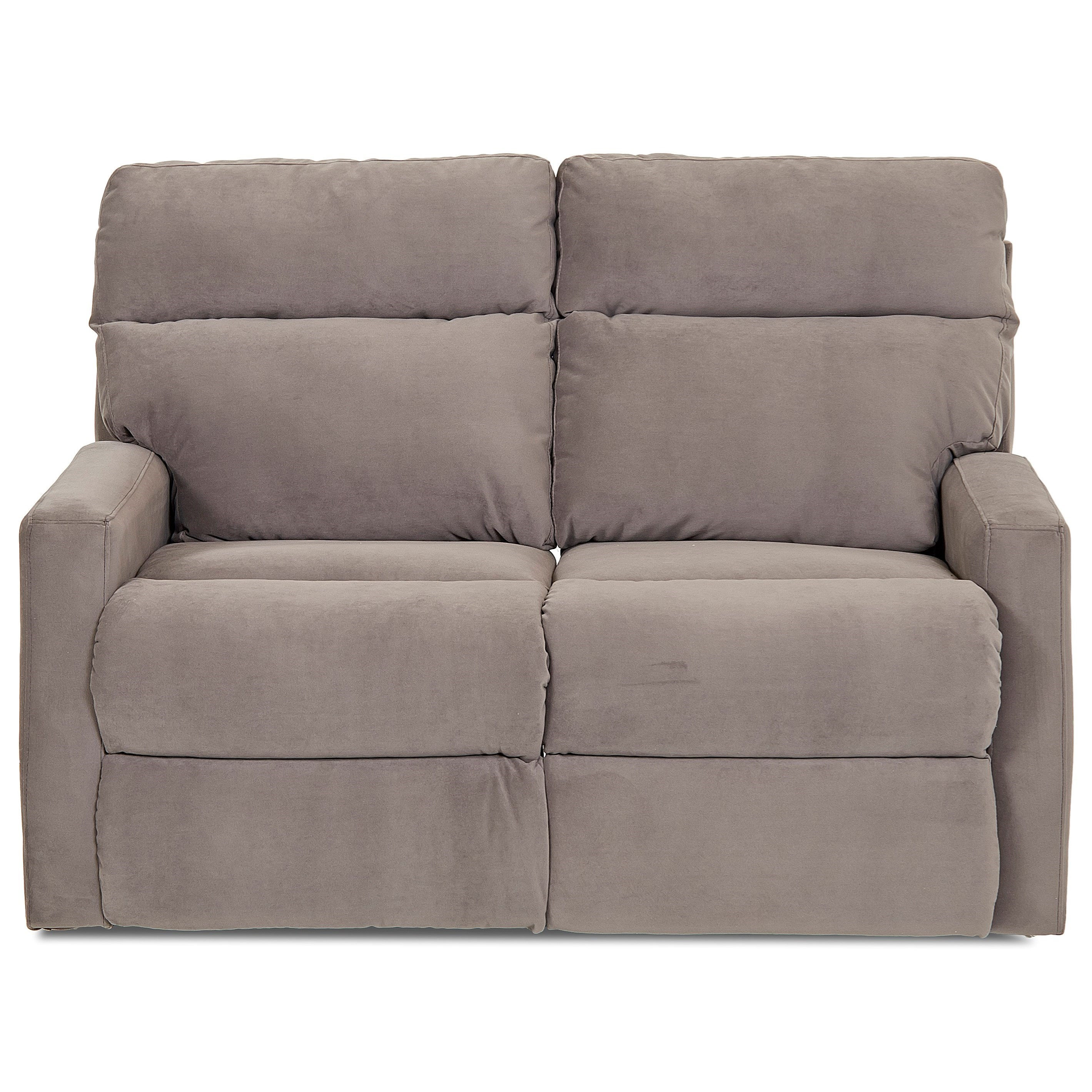 Klaussner Monticello Power Reclining Loveseat - Item Number: 41503 PWRLS-OAKL GRAP