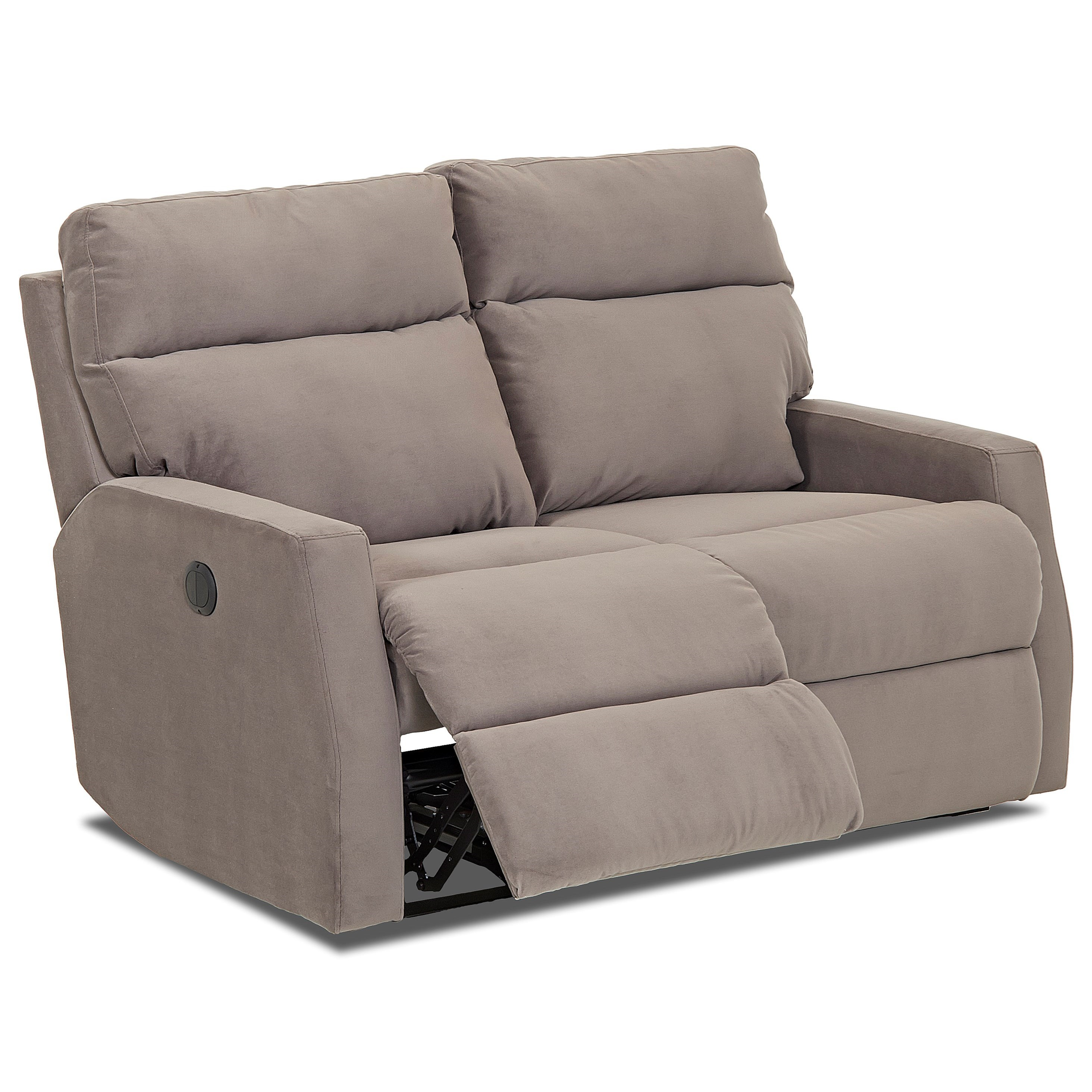 Klaussner Daphne Reclining Loveseat With Track Arms