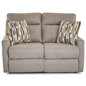 Reclining Loveseat w/ Pillows