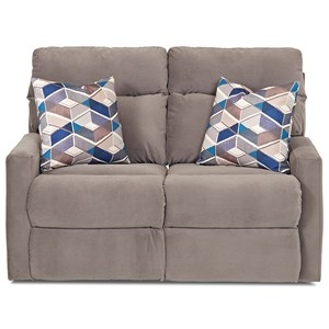 Klaussner Monticello Reclining Loveseat w/ Pillows