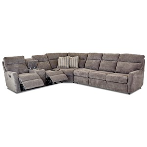 5-Seat Reclining Sectional w/  RAF Sleeper