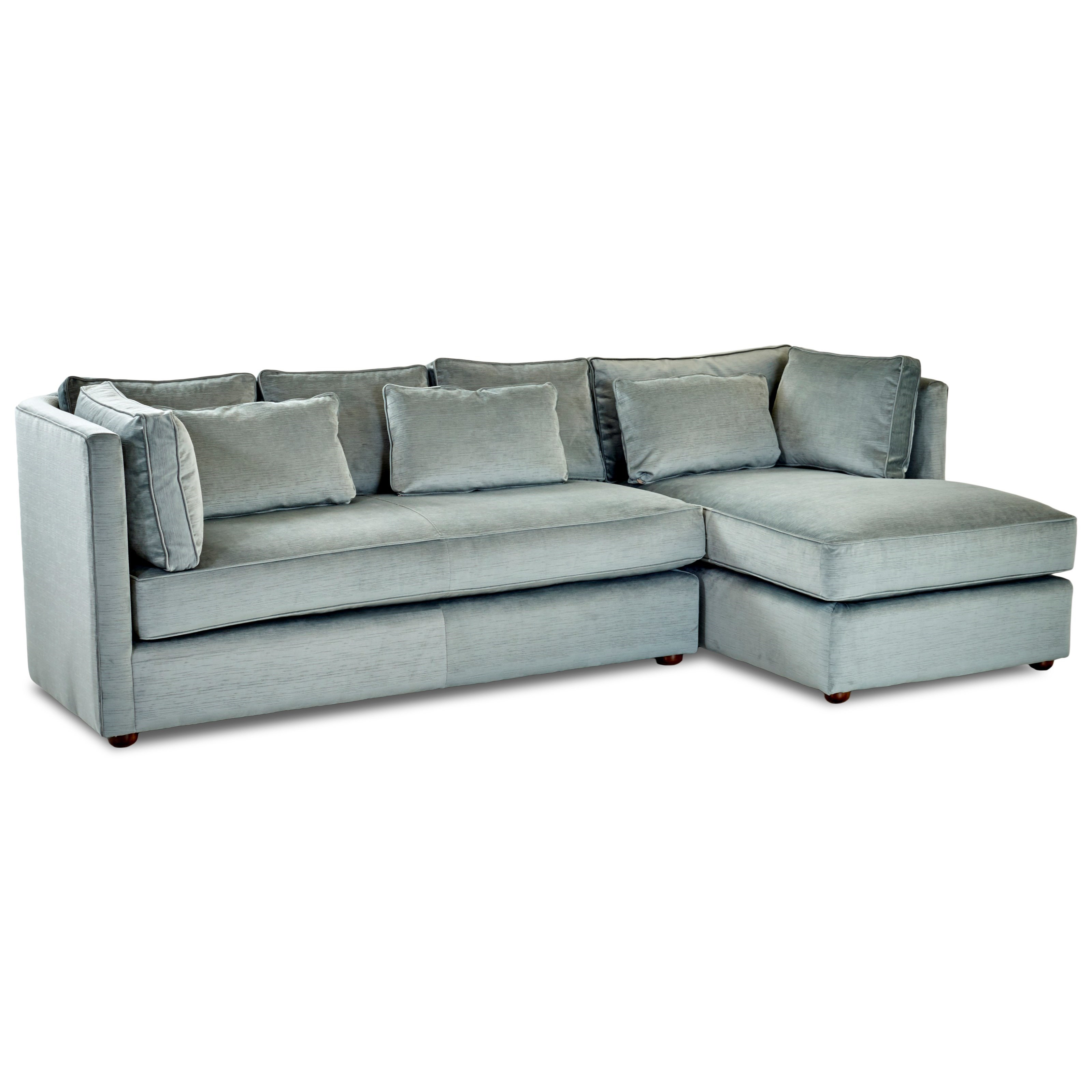Bon Klaussner Monroe Sofa With Chaise   Item Number: D2100L S+D2100R  CHASE EMPIRE