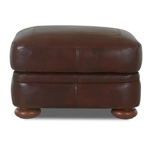 Elliston Place Montezuma Leather Ottoman