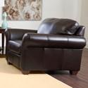 Klaussner Moorland Chair  - Item Number: LT11600 C-Abilene Chocolate