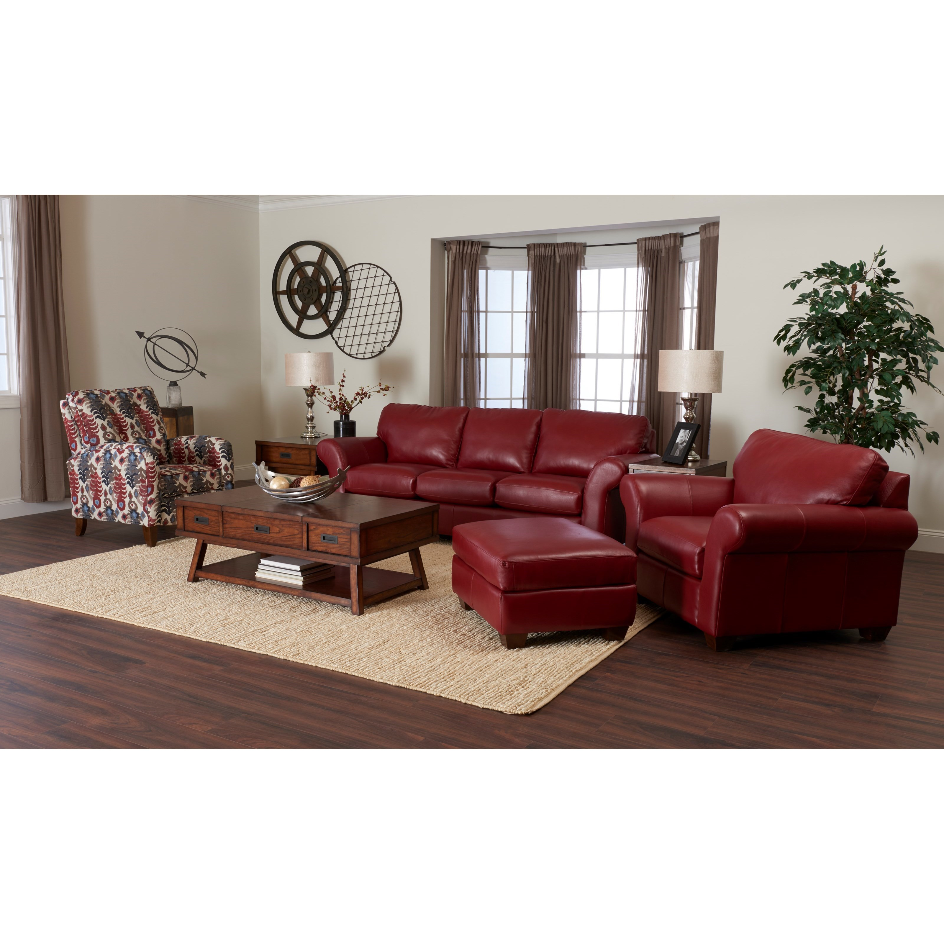 Klaussner Moorland Casual Leather Sofa Value City