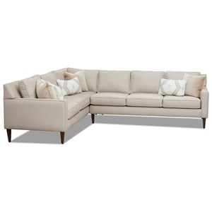 Noho 5-Seat Sectional Sofa w/ RAF Sofa by Klaussner