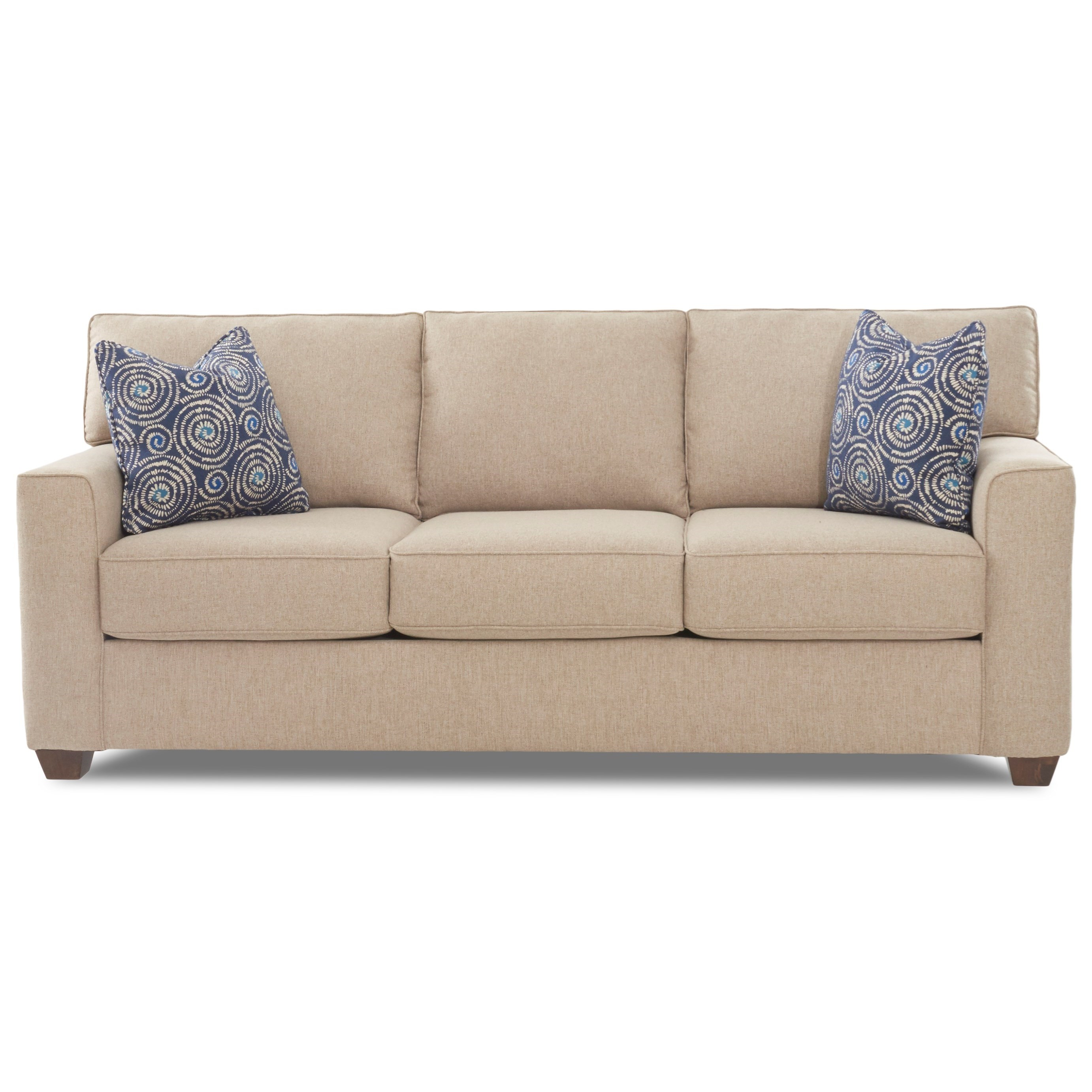 Klaussner Nolan Contemporary 3 Seat Sleeper Sofa With Enso