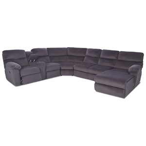 Power Reclining Sectional w/RAF Recl Chaise