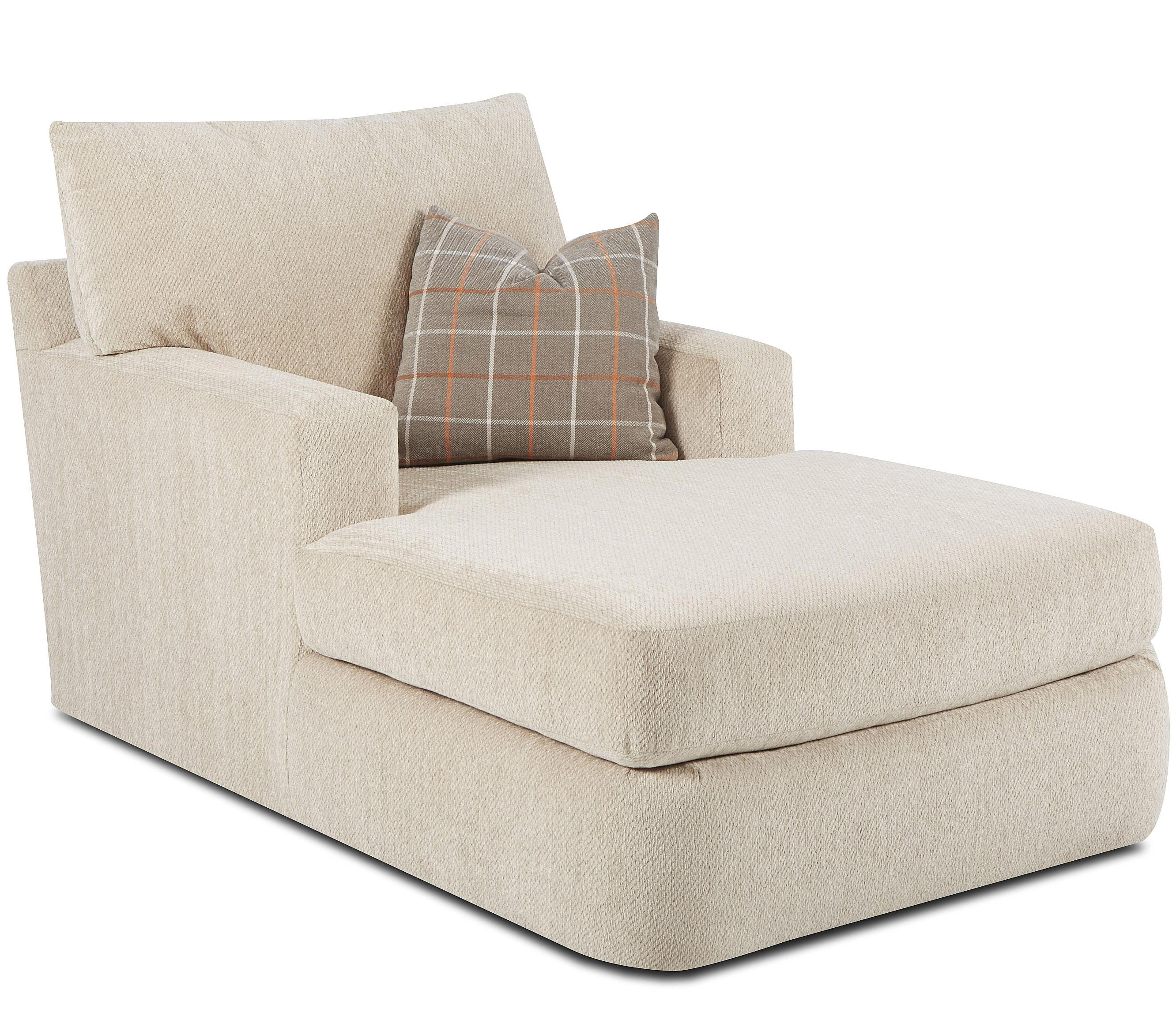 Klaussner Oliver Contemporary Chaise   Item Number: K41400 CHASE   Jessie  Oatmeal